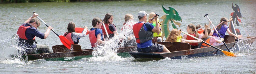 Mini dragon boat racing